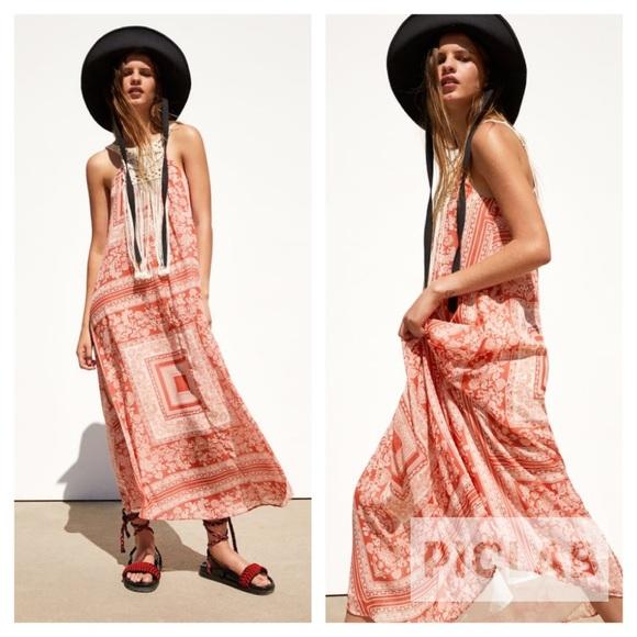Zara Dresses & Skirts - Zara red matching printed dress